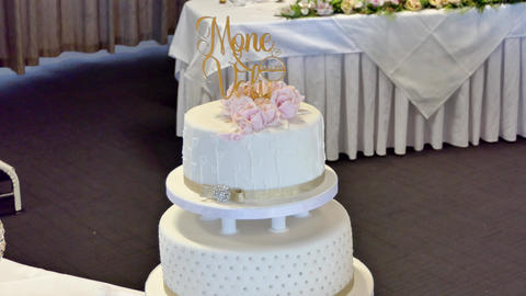 Shot of Wedding cake and decoration Archivo