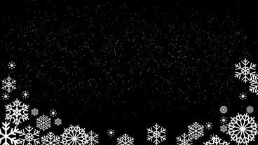 Snowing Fall wBoarder loop folder After Effectsテンプレート