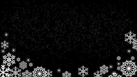 Snowing Fall wBoarder loop folder After Effects Template