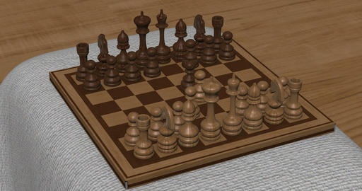 Animation of chess set in motion Image