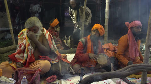 Gathering of Indian Hindu sadhus 画像