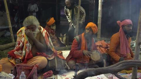 Gathering of Indian Hindu sadhus Image