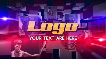 Action 3D Cube Logo After Effects Template