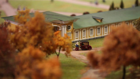 horse-drawn carriage miniature model Footage