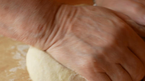close up of elderly woman's hand kneading Footage