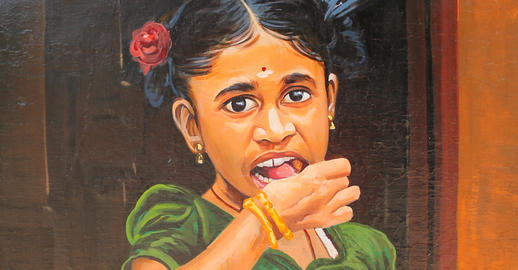A image of painted onto a wall in Chennai India Foto