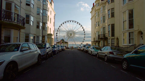 Long shot of the brighton wheel Footage
