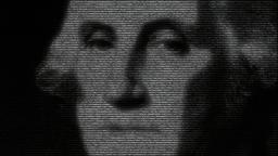 Animation of George Washington with numbers runninc Animation