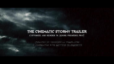 Cinematic Stormy Trailer Premiere Pro Template