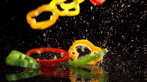 Fruit and Vegetables Splashing Footage