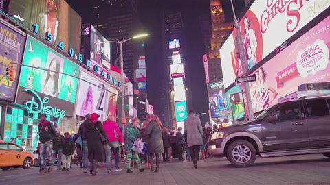 Crowded Busy Times Square Tourists ビデオ