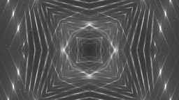 VJ Fractal Silver Kaleidoscopic Background stock footage