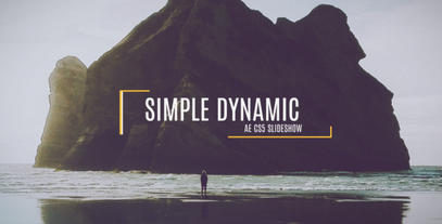 Simple Dynamic Slideshow After Effectsテンプレート