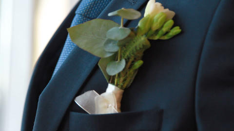 groom boutonniere Footage