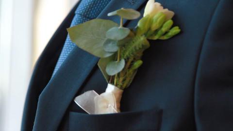 groom boutonniere Footage