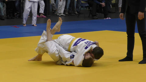 Boys compete in Judo Live Action