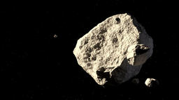 asteroids fly in space Image
