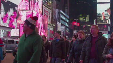 Crowded Busy Times Square, NYC, USA ビデオ