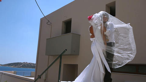 Happy newlyweds in a honeymoon Live Action