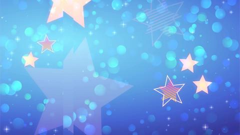 Anime style Blue glitter Animation