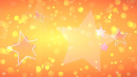 Anime style orange glitter Animation