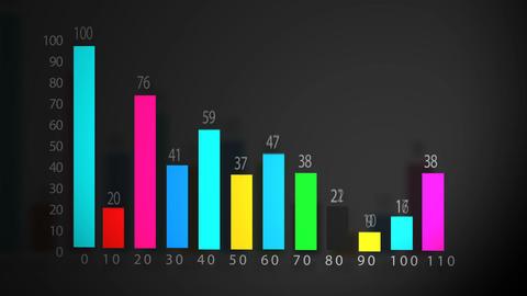 Business data bar graph chart diagram. Grow chart... Stock Video Footage