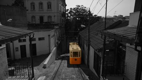 Elevador do Lavra funicular, Lisbon, Portugal Footage