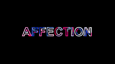Letters are collected in text AFFECTION, then scattered into strips. Bright Animation