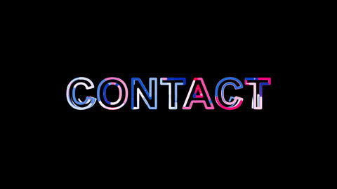 Letters are collected in text CONTACT, then scattered…, Stock Animation