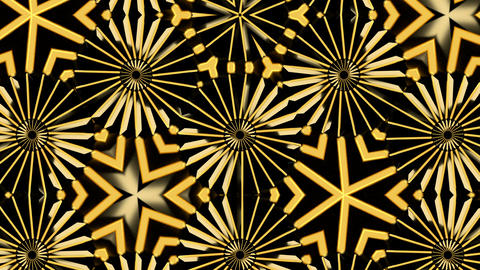 Abstract background with gold kaleidoscope Filmmaterial
