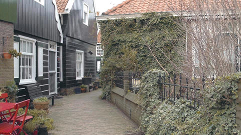 Houses in traditional village Marken, Netherlands Footage