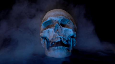 Skull in Smoke Footage