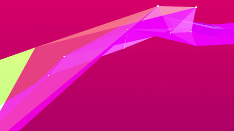 Abstract colored polygonal crystal surface Animation