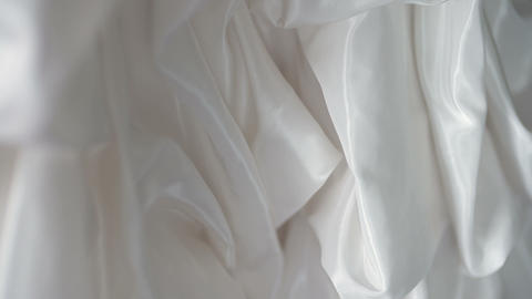 Beautiful white wedding dress detail Footage
