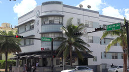 USA Florida Miami South Beach intersection Collins Avenue and 14th Street Archivo