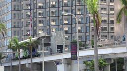 USA Florida Miami downtown Biscayne Boulevard Metromover Station Image
