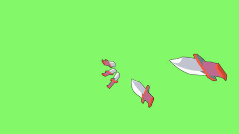 Attack knife effect Animation