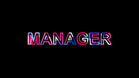 Letters are collected in text MANAGER, then scattered into strips. Bright Animation