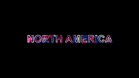 Letters are collected in continent name NORTH AMERICA, then scattered into Animation