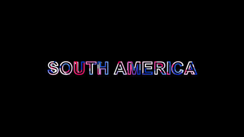 Letters are collected in continent name SOUTH AMERICA, then scattered into Animation