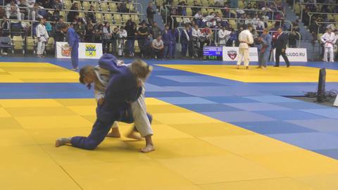 Orenburg, Russia - 21 October 2017: Girls compete in Judo Footage