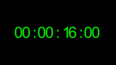 Timecode. Digits on black background Real time 40 seconds… Stock Video Footage
