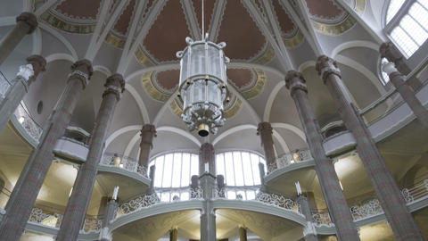 City Courthouse Landgericht building interior in Berlin Footage
