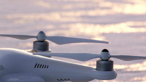 Drone engines starting and stopping Footage