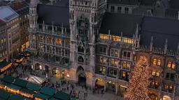 Christmastime in Munich, Bavaria Filmmaterial