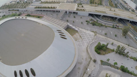 Faliro Olympic Indoor Hall in Greece - Tae Kwon Do Hall 2 Stock Video Footage