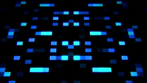 Sci-Fi Blue Glowing Artificial Intelligence AI Squares Loopable Background Animation