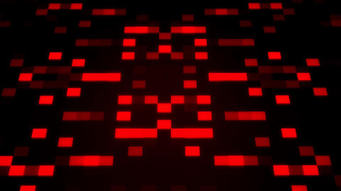 Sci-Fi Red Glowing Artificial Intelligence AI Squares Loopable Background Animation