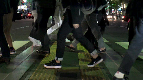 Japan Tokyo Roppongi People crossing Roppongi crossing area October 2017 Live Action