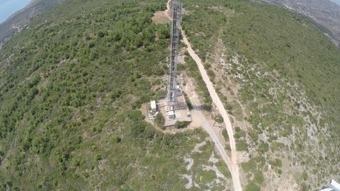 Above Telecommunication Antenna Live Action